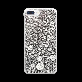 あゞ人生の牡蠣、色を纏えば孔雀 Clear smartphone cases