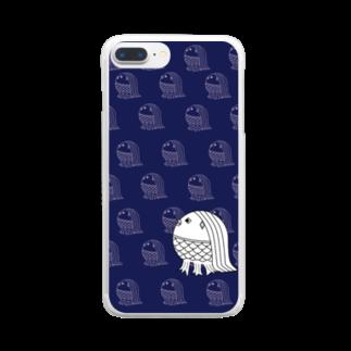 rioka24ki10のアマビエ祈願 青 Clear smartphone cases