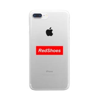 レッドシューズ Clear smartphone cases