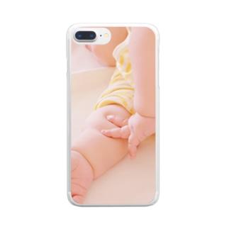 むちむちぴーす Clear smartphone cases