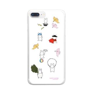 全世界うさぎ計画スマホケース Clear smartphone cases
