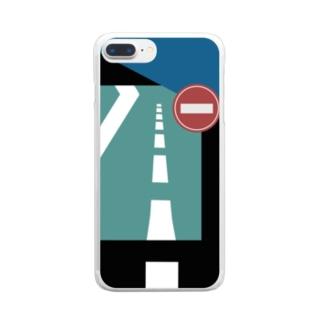 道路 Clear smartphone cases