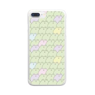 かえるまみれ Clear smartphone cases