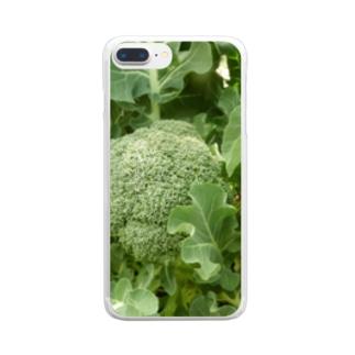 日本の野菜:ブロッコリー Broccoli Clear smartphone cases