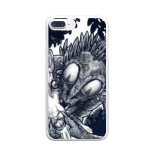 チュパカブラ・タートルカンパニー Clear smartphone cases