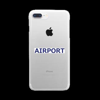 アメリカンベースのエアライングッズ AIRPORT Clear smartphone cases