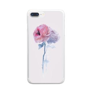 おくちばらちゃん Clear smartphone cases