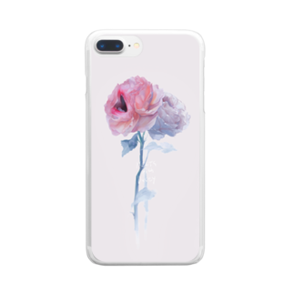 烏帽子眇眼のおくちばらちゃん Clear smartphone cases