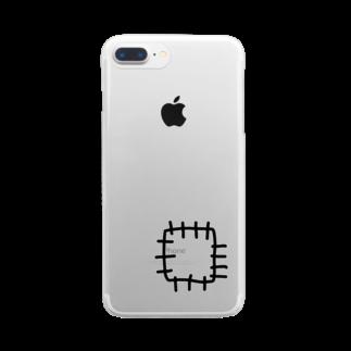 --eucaly--のぬいぬい、っていうか つぎはぎ Clear smartphone cases