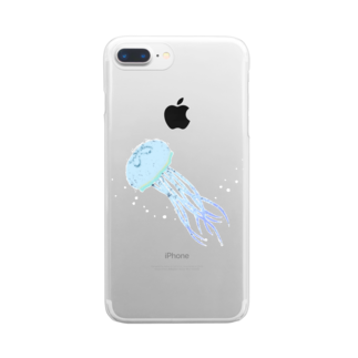 minaponzのクラゲさん Clear smartphone cases
