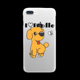 Hi-BoのI Love Poodle Clear smartphone cases