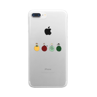 sio__21__gramのfruits girls Clear smartphone cases