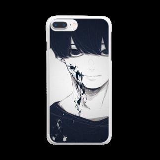 らくがきのオリキャラ Clear smartphone cases