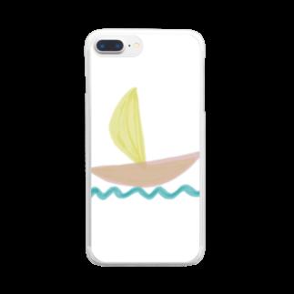 Atomatomのヨット Clear smartphone cases