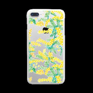 machinoniwaのミモザ クリア Clear smartphone cases