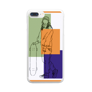 Ma Chérieのスケボ女子2 Clear smartphone cases