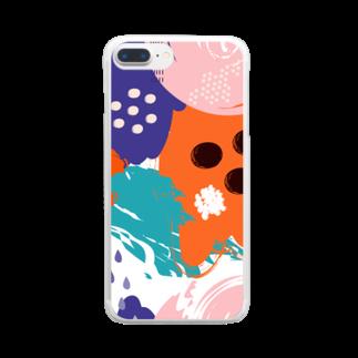 SANKAKU DESIGN STOREの南国clubモダンアート。 Clear smartphone cases