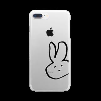 かの左手で描いた Clear smartphone cases