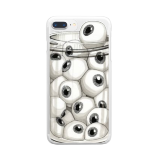 Johannのアイボールポット Clear smartphone cases