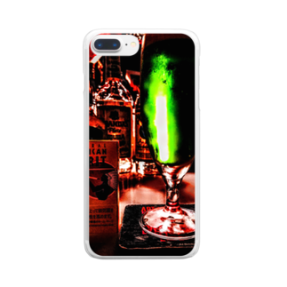 およねのエフェクトかけすぎた写真 Clear smartphone cases