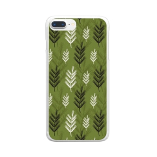 名前を忘れた針葉樹。 Clear smartphone cases