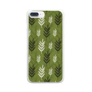 SANKAKU DESIGN STOREの名前を忘れた針葉樹。 Clear smartphone cases