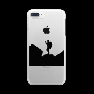 wawawawaaa3の山ガール Clear smartphone cases