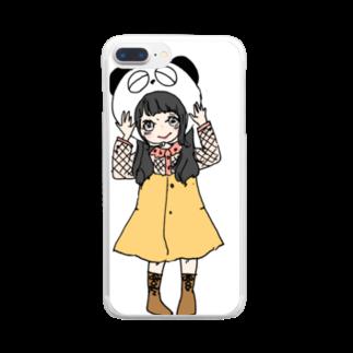 a m eのめこぱんにぎり Clear smartphone cases