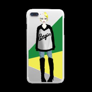 斎藤さいのお店のBegin! Clear smartphone cases