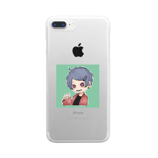 らくがきのミニオリキャラ Clear smartphone cases