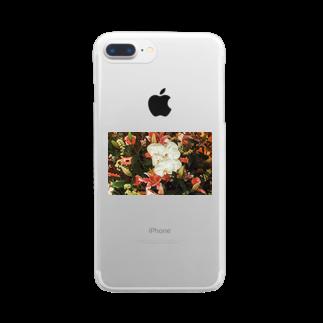 aa100099uの思い出のFlower Clear smartphone cases