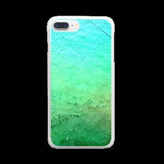 古春一生(Koharu Issey)のメロンソーダの海。 Clear smartphone cases