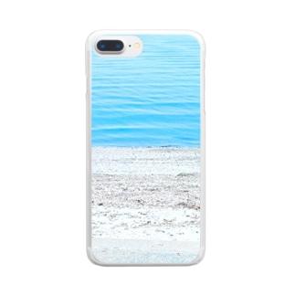 うみのスマホケース Clear smartphone cases