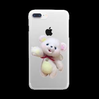 chibikumaのコスモちゃん Clear smartphone cases