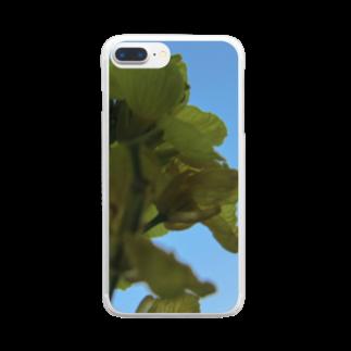 Pudding/アライマリンのしずくの世界 菜の花 Clear smartphone cases