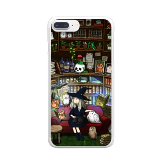 ぴよきのこ雑貨店の魔女の勉強 Clear smartphone cases