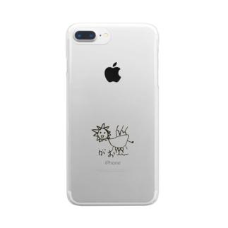 長男の絵 ライオン Clear smartphone cases
