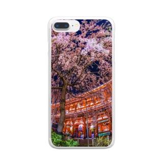 浅草寺 宝蔵門としだれ桜 Clear smartphone cases