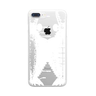 アノマロカリス ブラック Anomalocaris Canadensis Clear smartphone cases