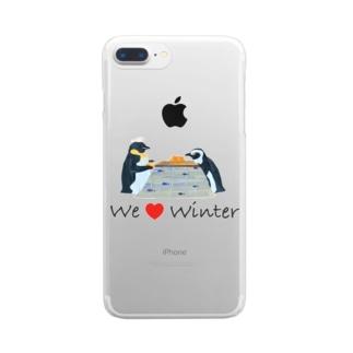 こたつペンギン Clear smartphone cases