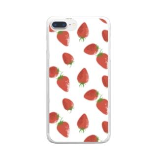 苺 Clear smartphone cases