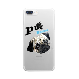 パグの泣き声 Clear smartphone cases