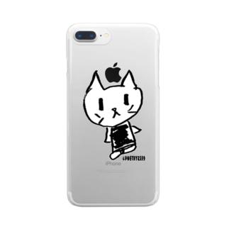稀有のねこちゃん Clear smartphone cases