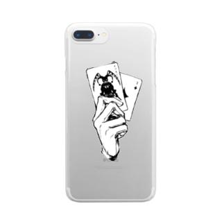 トランプおてて Clear smartphone cases
