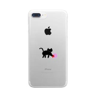 黒猫のいる部屋 Clear Smartphone Case