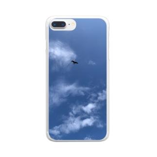 優雅に飛ぶトンビ Clear smartphone cases