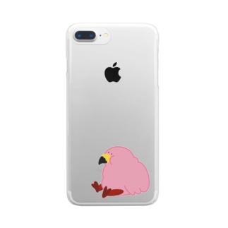 もっとふとりすぎたフラミンゴ Clear smartphone cases