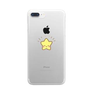 にこにこ星さんからのふぁいぴ!エール Clear smartphone cases