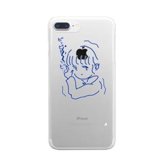 ハートにズッキュンよりズッバーン Clear smartphone cases