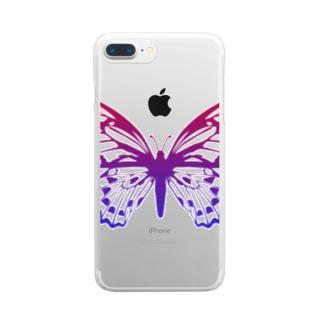 バタフライ/夜明け Clear smartphone cases